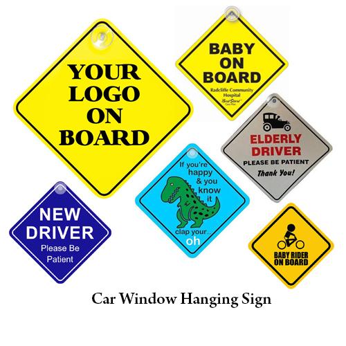 Car Window Hanging Sign
