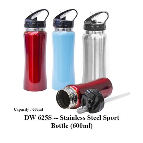 DW 625S — Stainless Steel Sport Bottle (600ml)