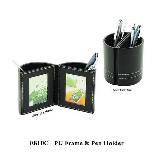 E810C – PU Frame & Pen Holder