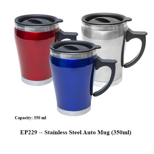 EP229 — Stainless Steel Auto Mug (350ml)