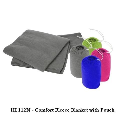 HI 112N – Comfort Fleece Blanket with Pouch