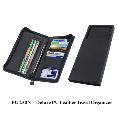 PU 250N — Deluxe PU Leather Travel Organizer
