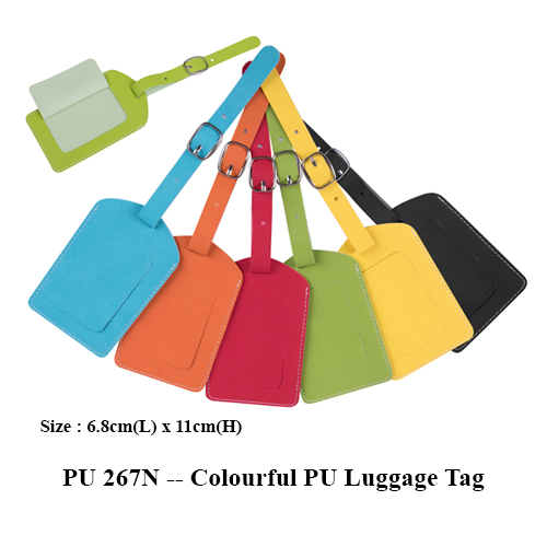 PU 267N — Colourful PU Luggage Tag