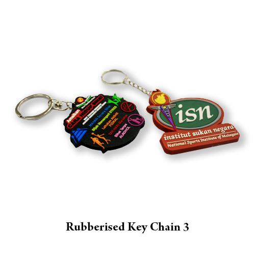 Rubberised Key Chain 3