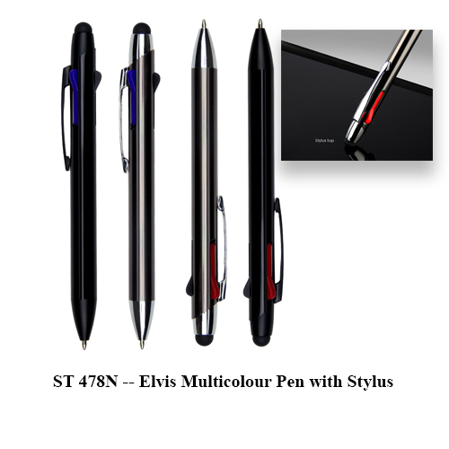 ST 478N — Elvis Multicolour Pen with Stylus