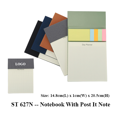 ST 627N — Notebook With Post It Note