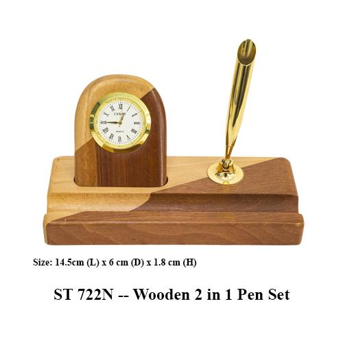 ST 722N — Wooden 2 in 1 Pen Set