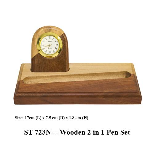 ST 723N — Wooden 2 in 1 Pen Set