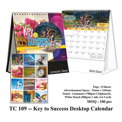TC 109 — Key to Success Desktop Calendar