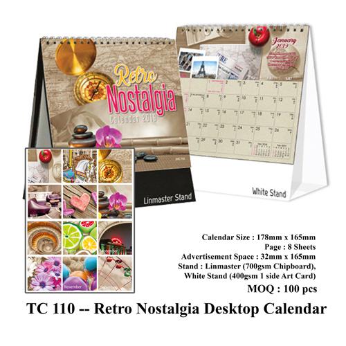 TC 110 — Retro Nostalgia Desktop Calendar