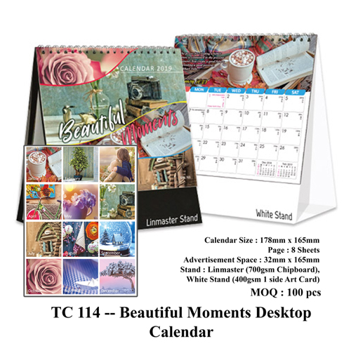 TC 114 — Beautiful Moments Desktop Calendar