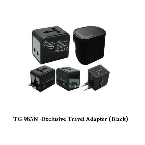 TG 983N – Exclusive Travel Adapter (Black)