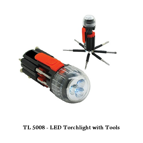 TL 5008 — LED Torchlight with Tools