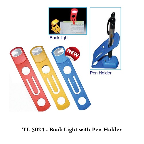 TL 5024 — Book Light with Pen Holder
