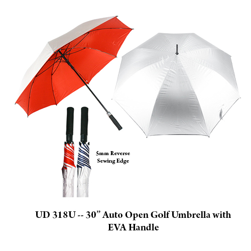 "UD 318U — 30"" Auto Open Golf Umbrella with EVA Handle"