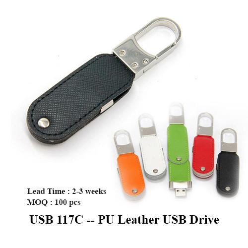 USB 117C — PU Leather USB Drive