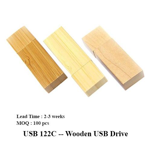USB 122C — Wooden USB Drive