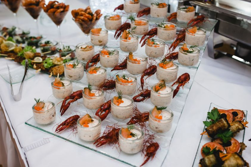 Catering food wedding buffet