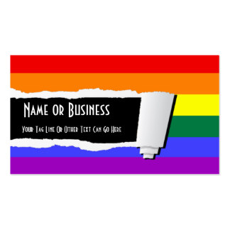 rainbow biz card