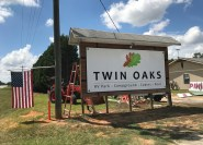 Twin Oaks new sign