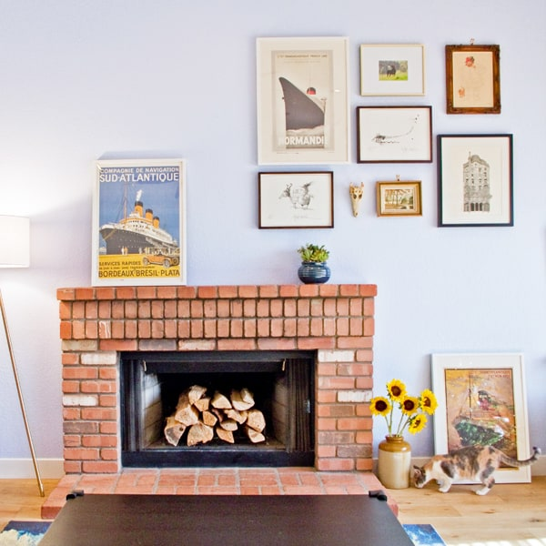 fireplace-picture-arrangement