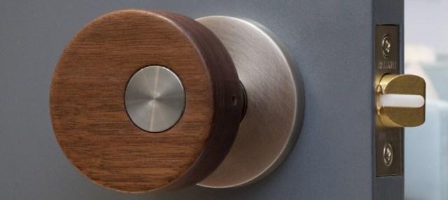 wooden door knob