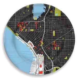 seattle map plate