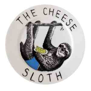 cheese sloth plate