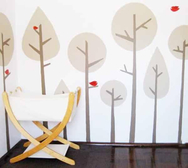 trees nursery mural