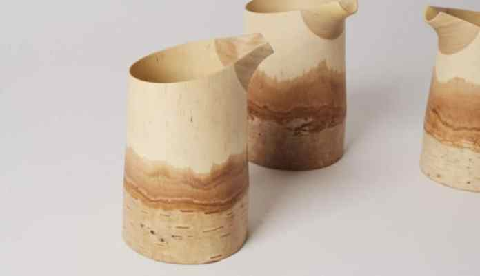 birch sake jugs