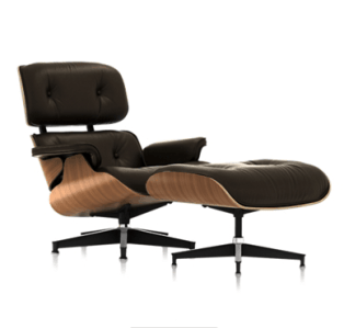 Eames Lounge Chair, Charles and Ray Eames (1956). Source: hermanmiller.com