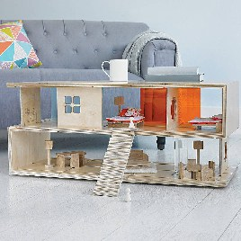 QUBIS DESIGN Coffee Table And Doll's House