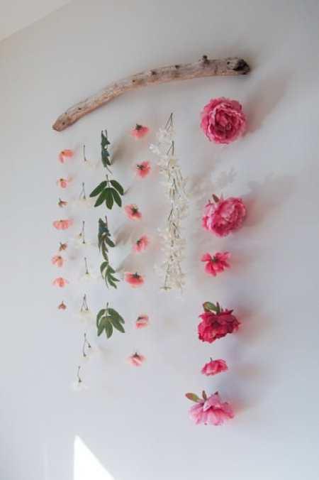 DIY Kids Decor Flower Wall Hanging