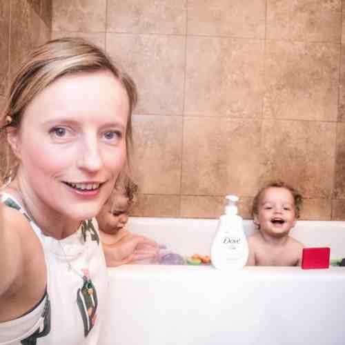 washing toddler hair Baby Dove