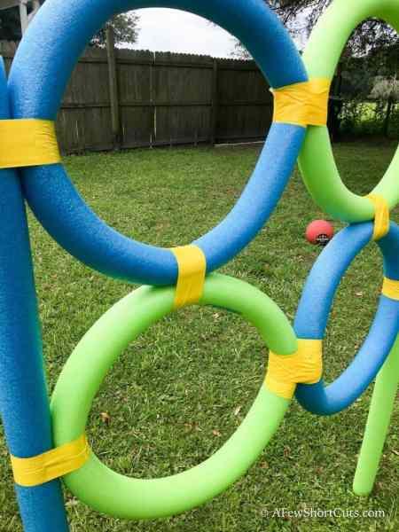 pool noodle frisbee target