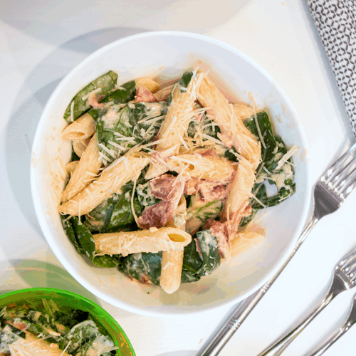 Creamy Pasta with Spinach