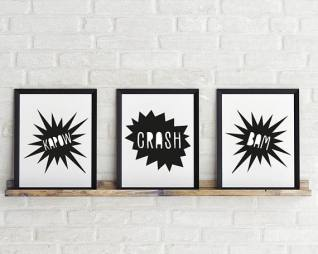 Kapow, Crash, Bam Prints