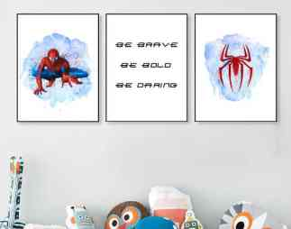 spiderman wall art printables