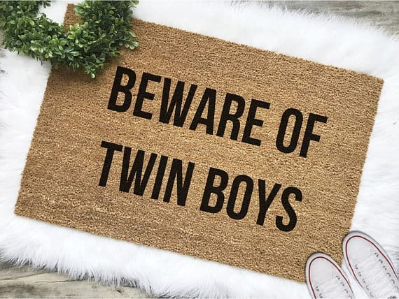 Twin Mom Door Mat