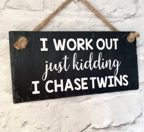Twin Mom Sign