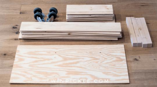 DIY Toy box materials