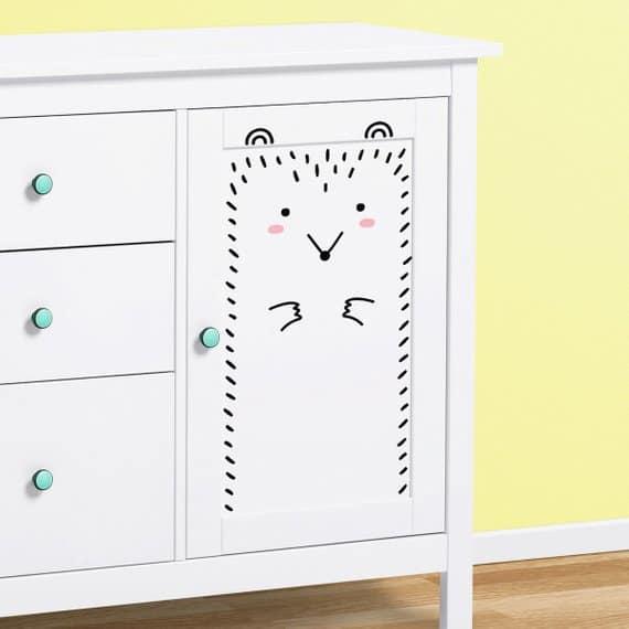 Hedgehog IKEA cabinet decals
