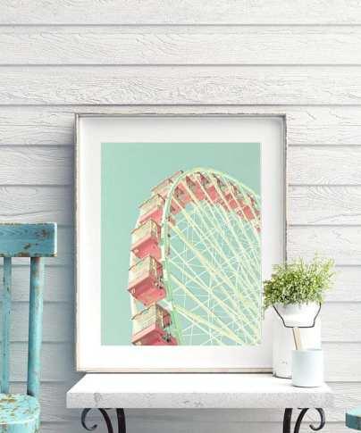 Pastel ferris wheel print