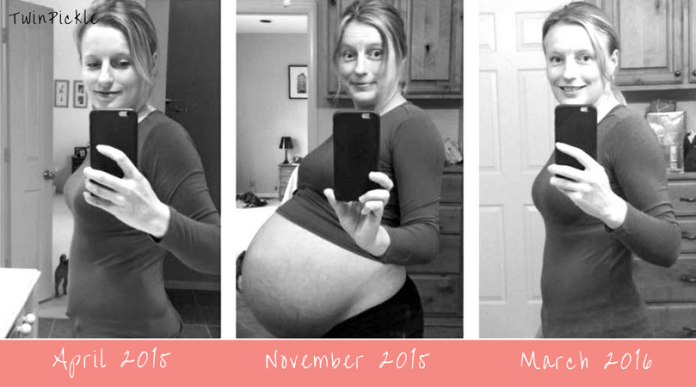 Losing weight after twins