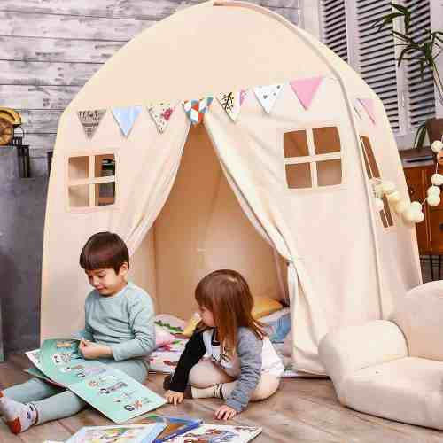 Neutral Playhouse Tent Tepee