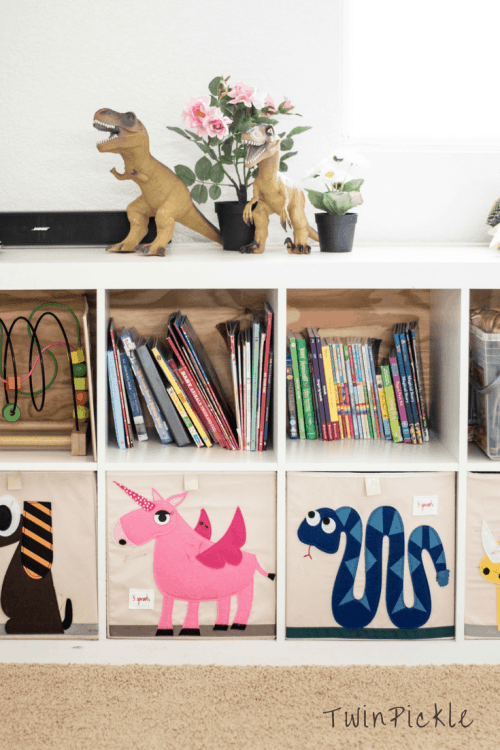 Playroom Storage Kids Books at Home