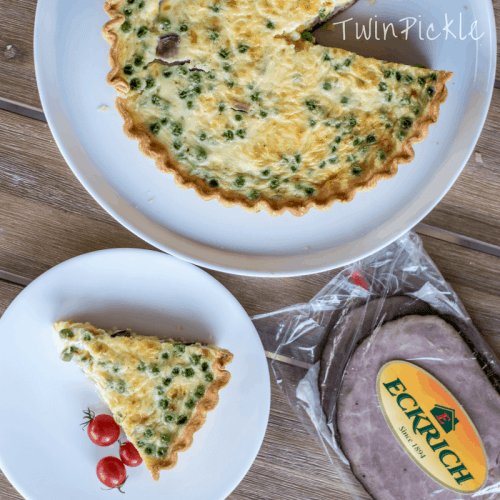 Simple Family Friendly Ham & Pea Quiche for Kids