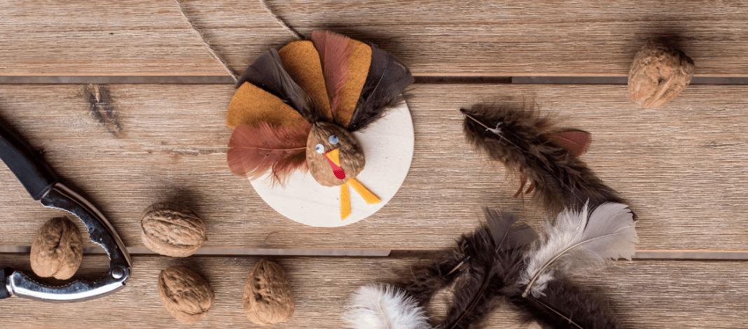 DIY Thanksgiving Walnut Turkey Craft