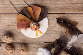 DIY Thanksgiving Walnut Turkey Craft
