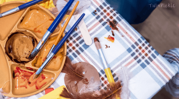 Cleaning up messy kids crafts
